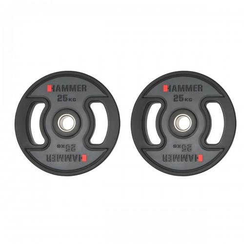 Gummiklädda internationella viktskivor Hammer 2x25 kg