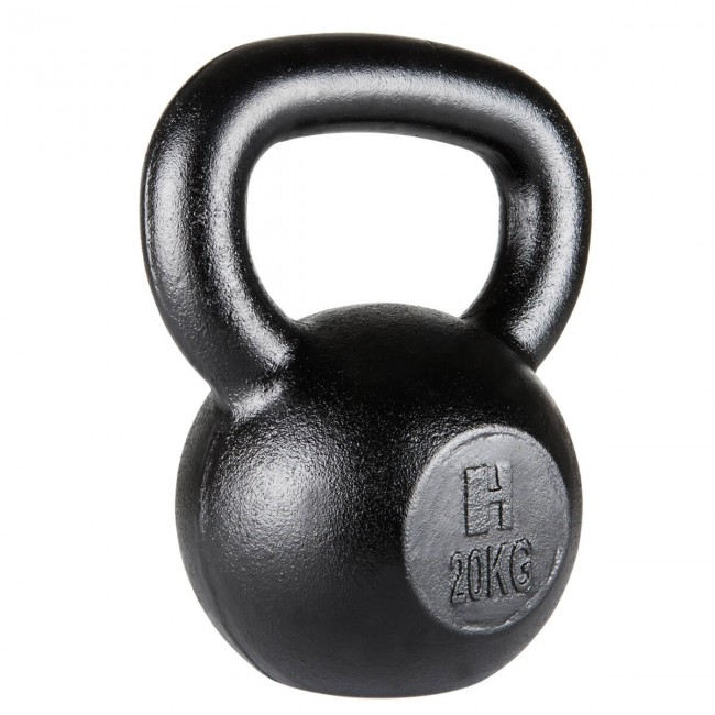 Winston Kettlebell 20kg Perfect for Home Workout Full Body Workout Gyms Schools Club Strength Training Fitness Exercise Cast Iron Durable