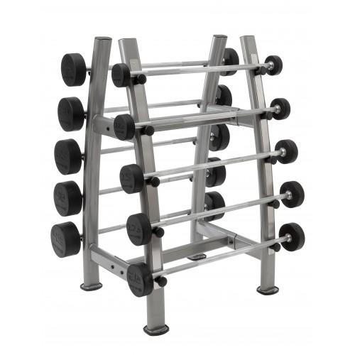 Fasta Skivstänger 10-45 kg inkl. ställ - Master Fitness