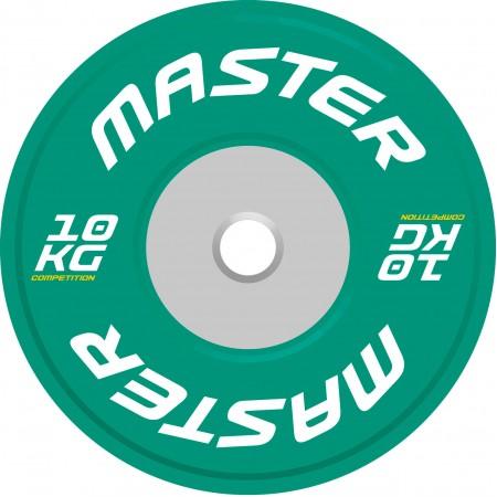 Viktskiva Competition Bumpers Plate 10 kg - Master