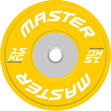 Viktskiva Competition Bumpers Plate 15 kg - Master