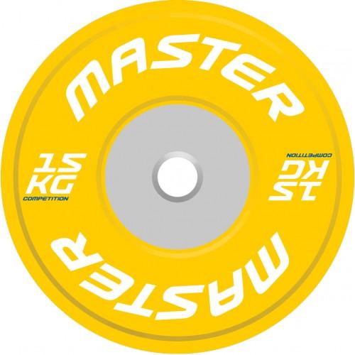 Viktskiva Competition Bumpers Plate 15 kg - Master