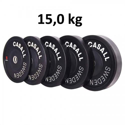 Casall Pro Viktskiva Bumper Plate 15,0 kg - Internationell