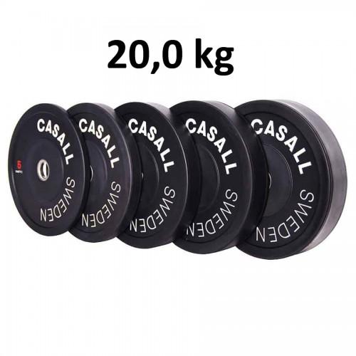 Casall Pro Viktskiva Bumper Plate 20,0 kg - Internationell