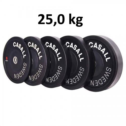 Casall Pro Viktskiva Bumper Plate 25,0 kg - Internationell