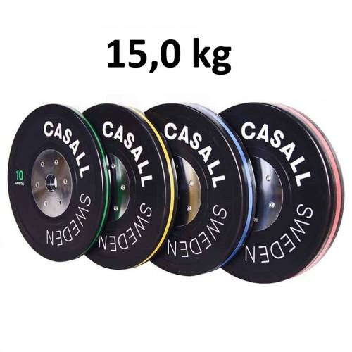 Casall Pro Viktskiva Bumper Elite Plate 15,0 kg - Internationell
