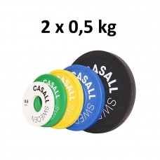 Casall Pro Change Plate, White 2x0,5 kg