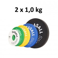 Casall Pro Change Plate, Green 2x1,0 kg