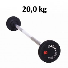 Casall Fixed Barbell Rubber 20,0 kg
