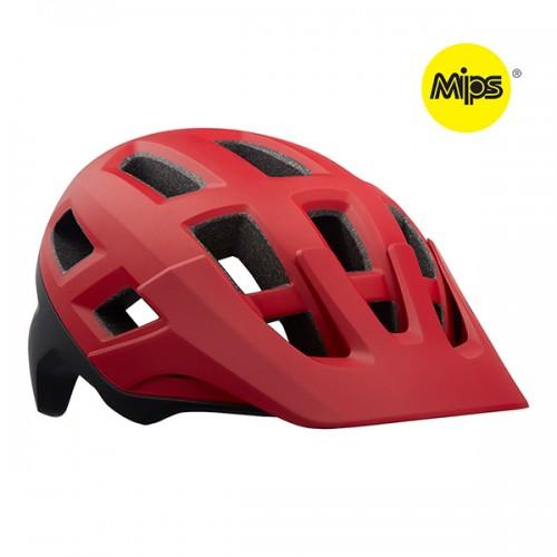Cykelhjälm Lazer Coyote MIPS -  matt röd svart