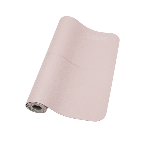Yogamatta Casall Yoga mat position 4mm - Lucky pink/grey