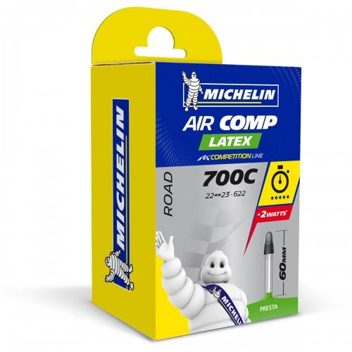 Cykelslang Michelin Aircomp Latex A1 22/23-622 Presta 60mm
