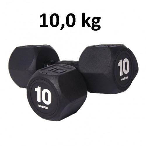 Hantel Casall Pro Hexagon Dumbbell Rubber 10.0 kg