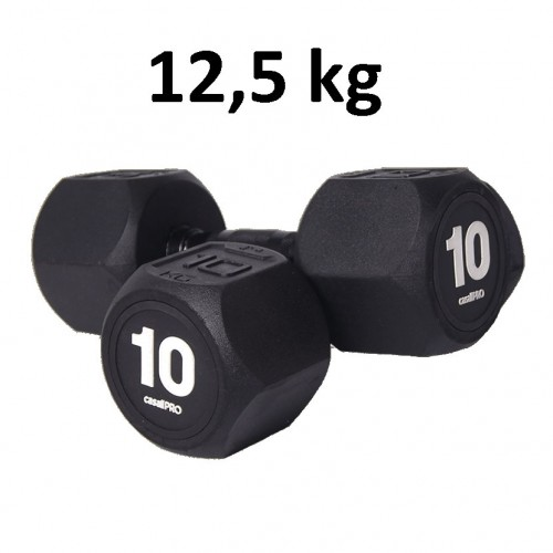 Hantel Casall Pro Hexagon Dumbbell Rubber 12.5 kg