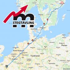 Deltagande i stegtävling med karta