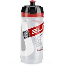 Cykelflaska Elite Corsa 550ml klar-röd logo