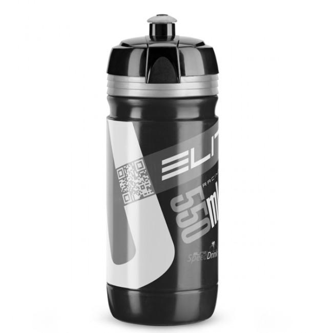 Cykelflaska Elite Corsa 550ml svart-silver logo