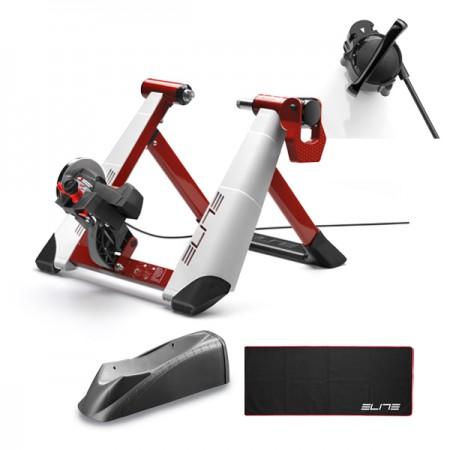 Cykeltrainer Elite Novo Force Pack (Matta+Framhjulsstöd)