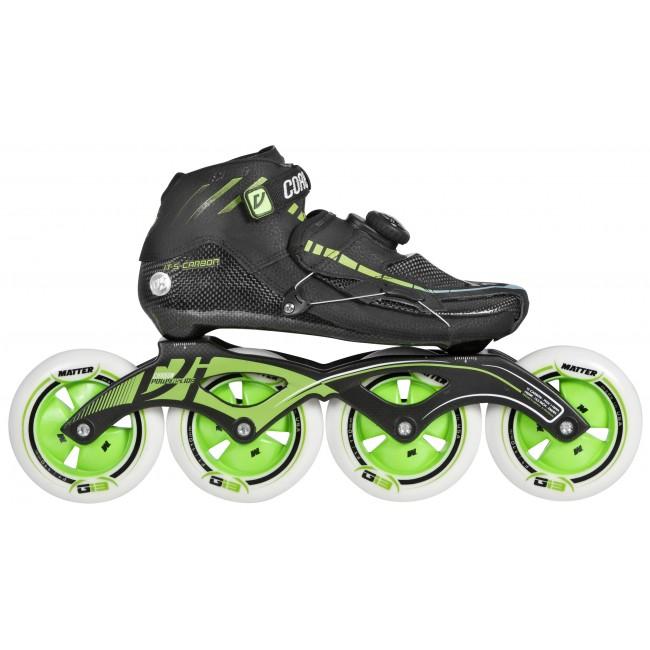 Speedskate Inlines Powerslide Vi Pro Carbon II - black / green 4x110mm