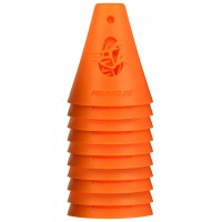 Powerslide Konor för slalomkörning med Inlines / Skateboard - Orange / 10-pack
