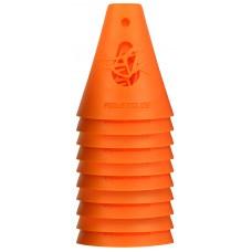 Powerslide Konor för slalomkörning med Inlines / Skateboard - Orange / 10-pack