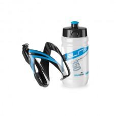 Cykelflaska och flaskställ Elite CEO 350ml blå