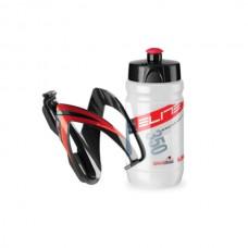 Cykelflaska och flaskställ Elite CEO 350ml röd