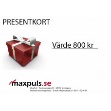 Presentkort MaxPuls.se 800 kr
