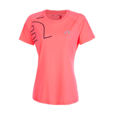 Tränings T-Shirt Newline Iconic Feather Tee Fluo Pink Storlek XL