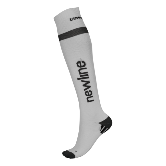 Newline Compression Sock - White
