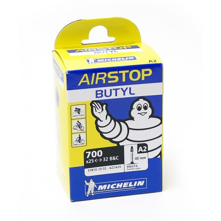 Cykelslang Michelin Airstop 25/32 x 622 Prestaventil 40mm