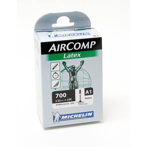 Cykelslang Michelin Aircomp Latex 22/23x622 Prestaventil 40mm
