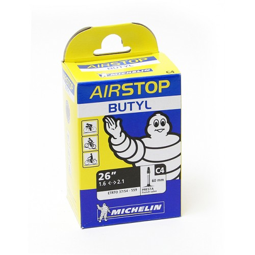 Cykelslang Michelin Airstop 26 x 1,45-2,6 Presta 60mm