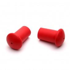 Utbytesfötter till Axess gångstavar - Röd mjuk