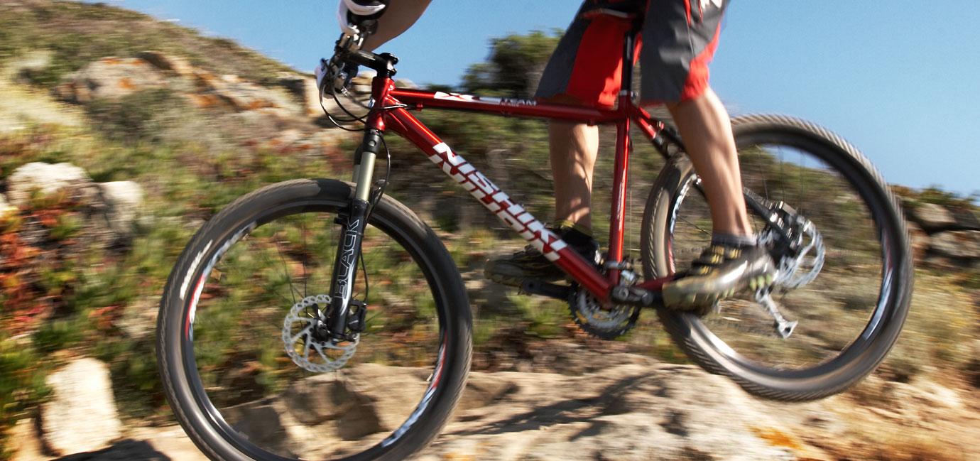 mountainbike på nätet