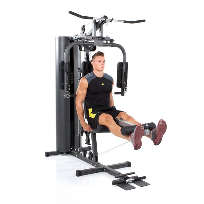 <p>Bilden visar ett exempel på ett hemgym för styrketräning.</p>